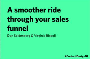 Don Seidenberg and Virgina Rispol talk - A smoother ride through your sales funnel